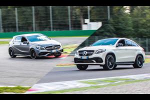 Mercedes Classe A 45 AMG e GLE Coupè 63 AMG, emozioni e potenza a Monza [TEST IN PISTA]