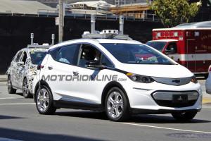 Chevrolet Bolt con guida autonoma catturata in fase di test [FOTO SPIA]