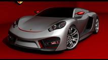 Porsche Concept by Emil Baddal - rendering