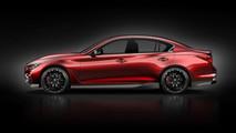 Infiniti Q50 Eau Rouge, pubblicato un nuovo teaser della fiancata della vettura