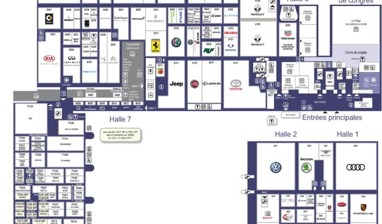 Salone di Ginevra 2017, la mappa completa in alta definizione
