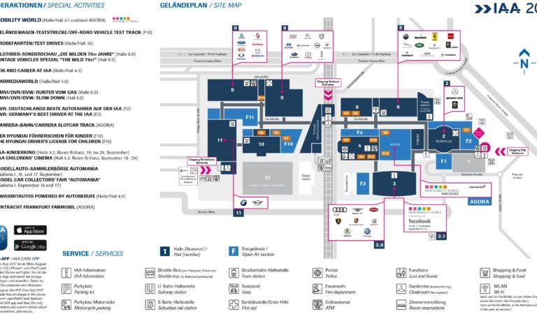 Salone dell'Auto di Francoforte 2017, la Mappa delle Case e degli espositori