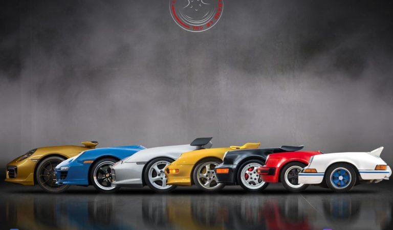 Le Porsche immaginate su un solo asse, la stravagante idea di un artista francese