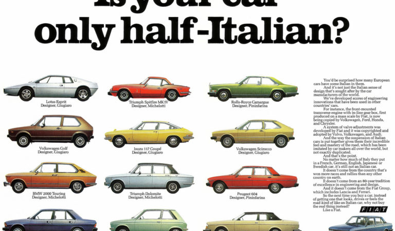 12 famose auto straniere del passato disegnate completamente in Italia