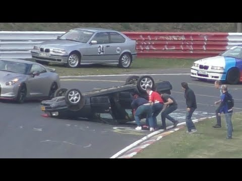 I migliori (peggiori) incidenti e fail al Nurburgring nel 2017 [VIDEO]