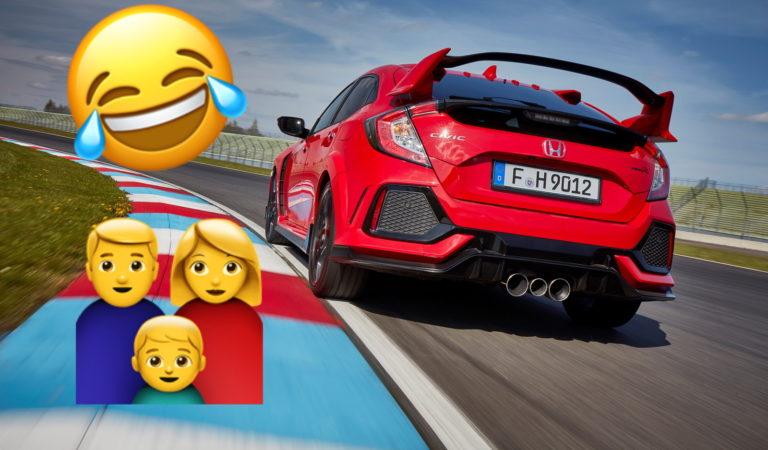 Dice alla moglie di aver comprato la nuova Honda Civic, ma lei non sa che è la Type-R