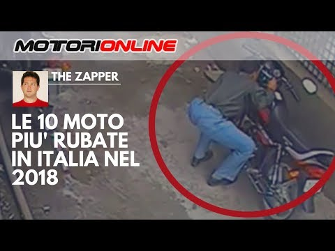 Le 10 MOTO più RUBATE in ITALIA nel 2018 | The Zapper