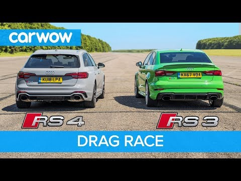 Audi RS3 contro RS4 Avant: chi vincerà la drag race? [VIDEO]