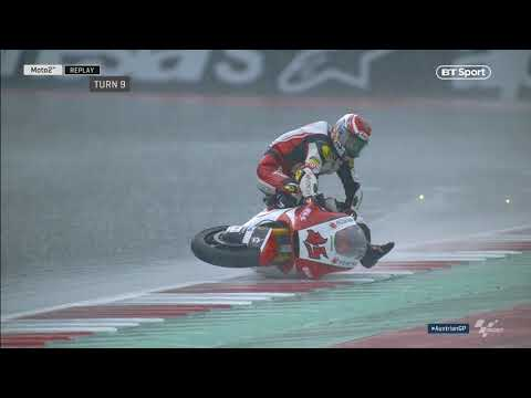 Moto2 | Nagashima si è ritrovato a surfare la sua moto in Austria! [VIDEO]