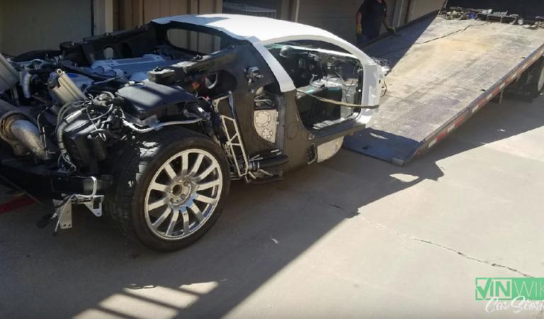 È in vendita a 300mila dollari una Bugatti che era finita in un lago