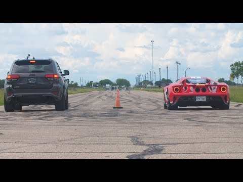 Ford GT VS Jeep Grand Cherokee: sfida impari alla drag race? [VIDEO]