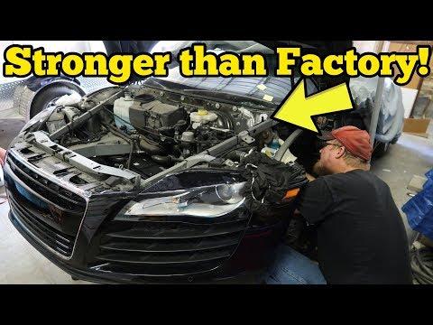 Riparare un'Audi R8 distrutta con appena 500 dollari è possibile [VIDEO]