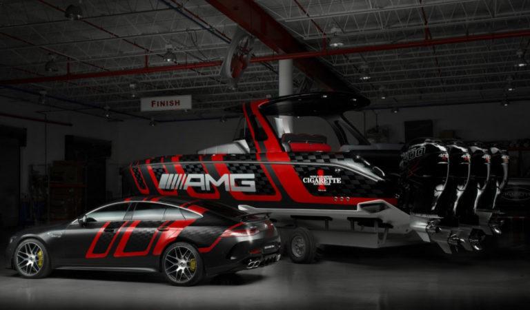Mercedes ha presentato una barca ispirata alla AMG GT 4 porte