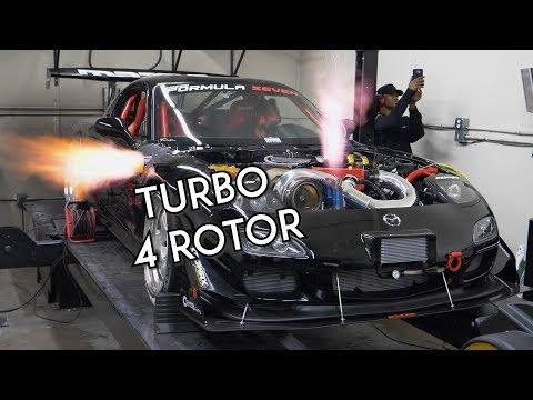 Ecco che rumore fa un motore a quattro rotori montato su questa Mazda RX-7 [VIDEO]