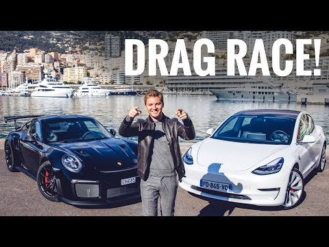 Nico Rosberg ha sfidato una Tesla Model 3 con una Porsche 911 GT2 RS in una drag race [VIDEO]