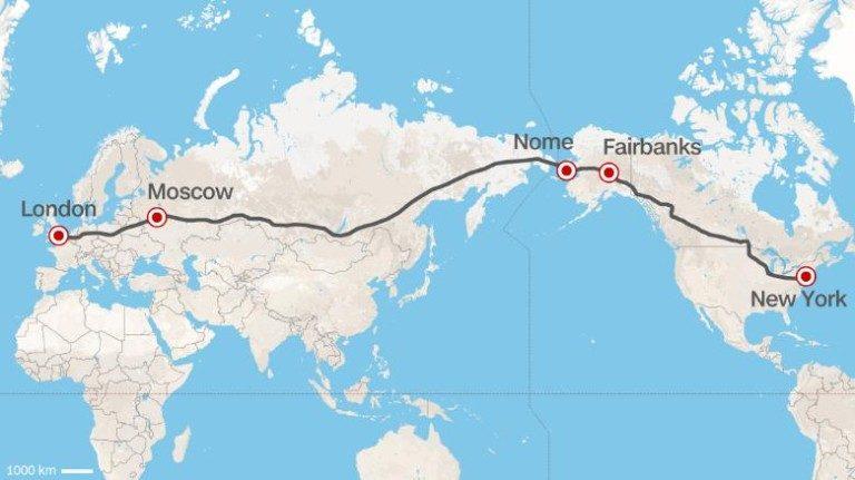 Nel 2015 la Russia propose di costruire l'autostrada più lunga del Mondo per collegare New York e Londra