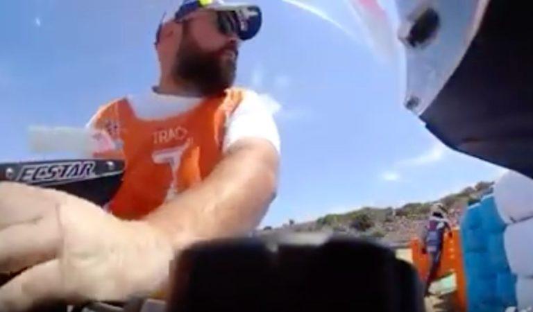 MotoGP | Un Marshall è stato ripreso dalla telecamera della Suzuki di Rins mentre rubava un pezzo