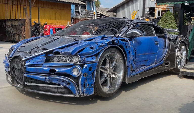 Due Bugatti Chiron fatte di rottami? In Thailandia è possibile