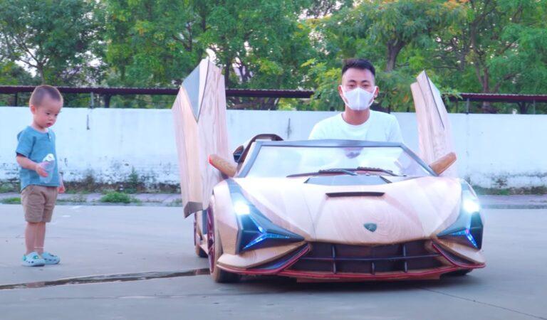 Una Lamborghini Sian per bambini e interamente costruita in legno! Ecco il giocattolo perfetto (VIDEO)