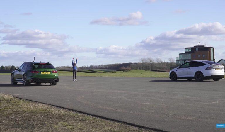 Una Drag Race fra una Audi RS6 Avant e una Tesla Model X. Chi vincerà? Guardate voi stessi (VIDEO)