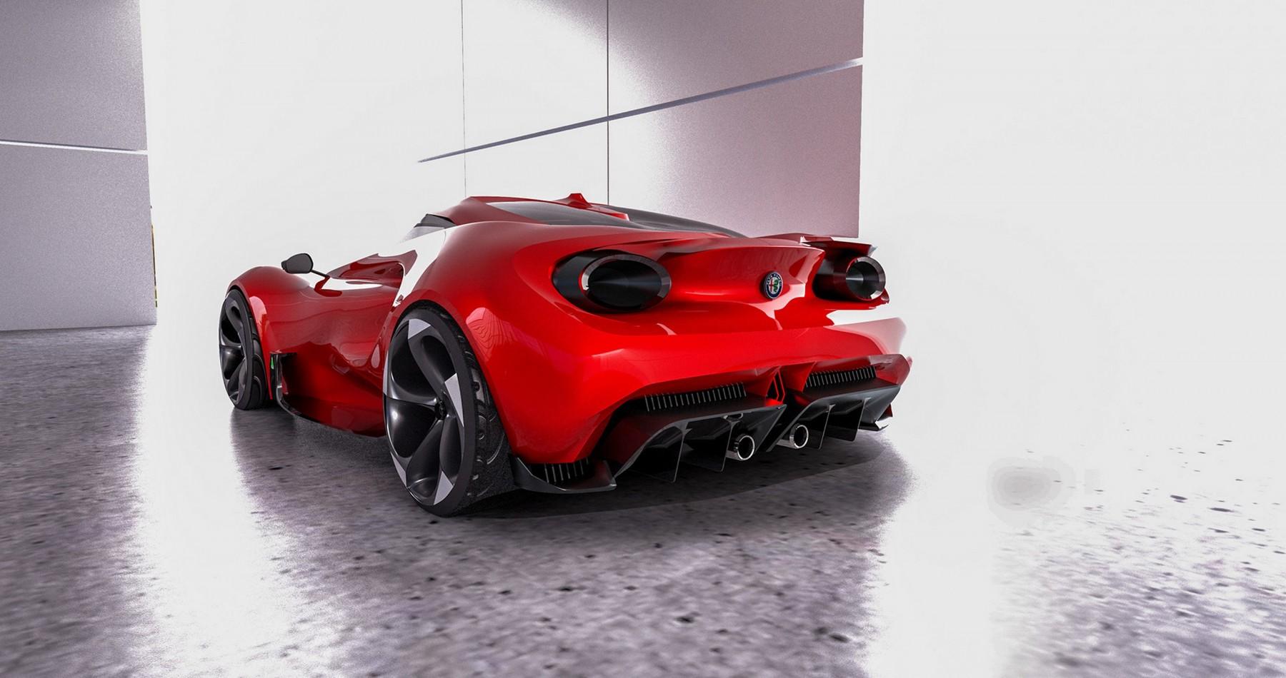 Alfa Romeo 4C 2020 by Yung Presciutti