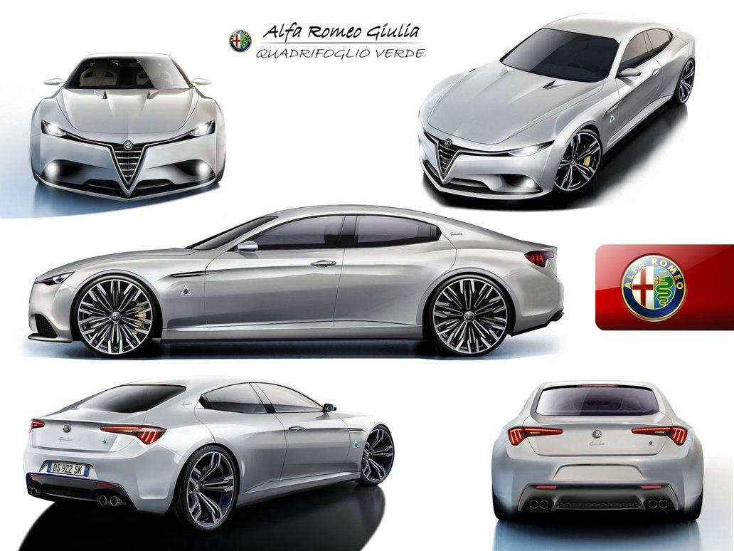 Alfa Romeo Giulia Rendering 3 4