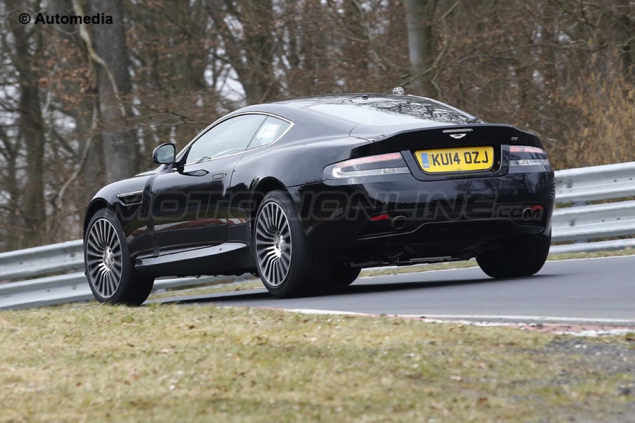 Aston Martin DB9 muletto prova nuova generazione - Foto spia 24-03-2015