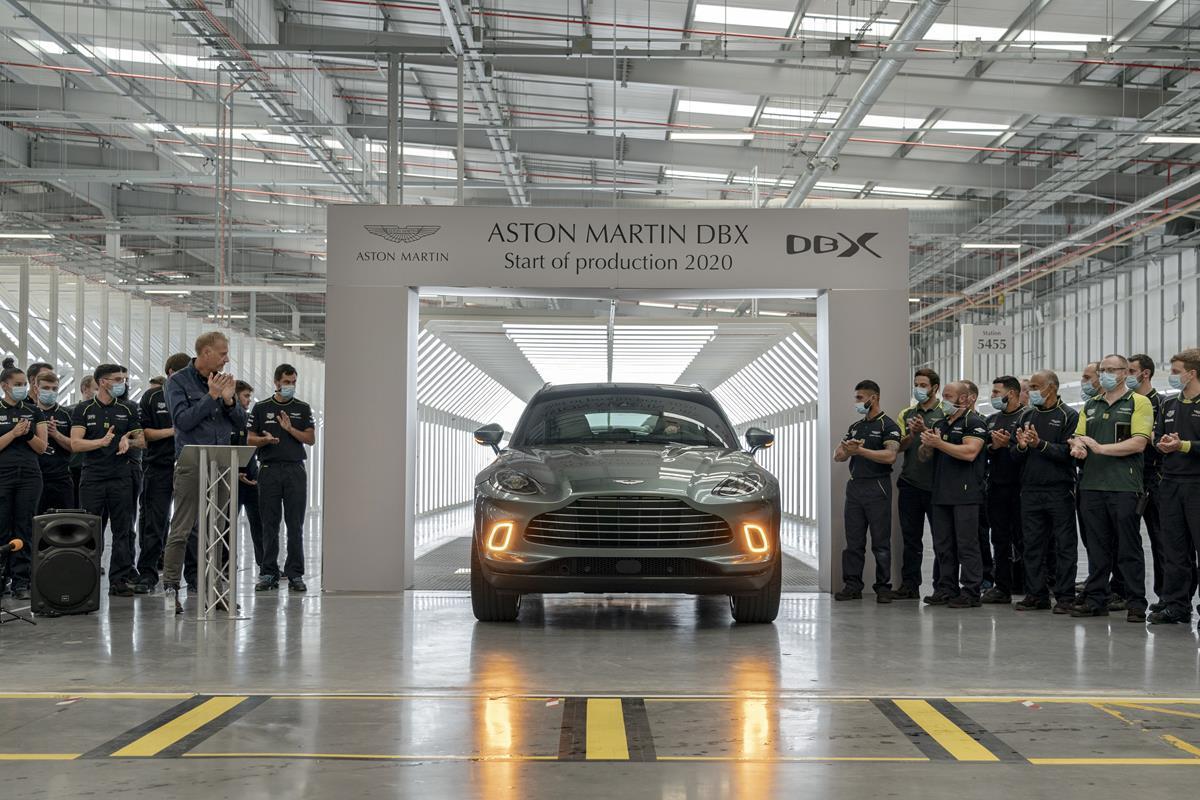 Aston Martin DBX - Produzione