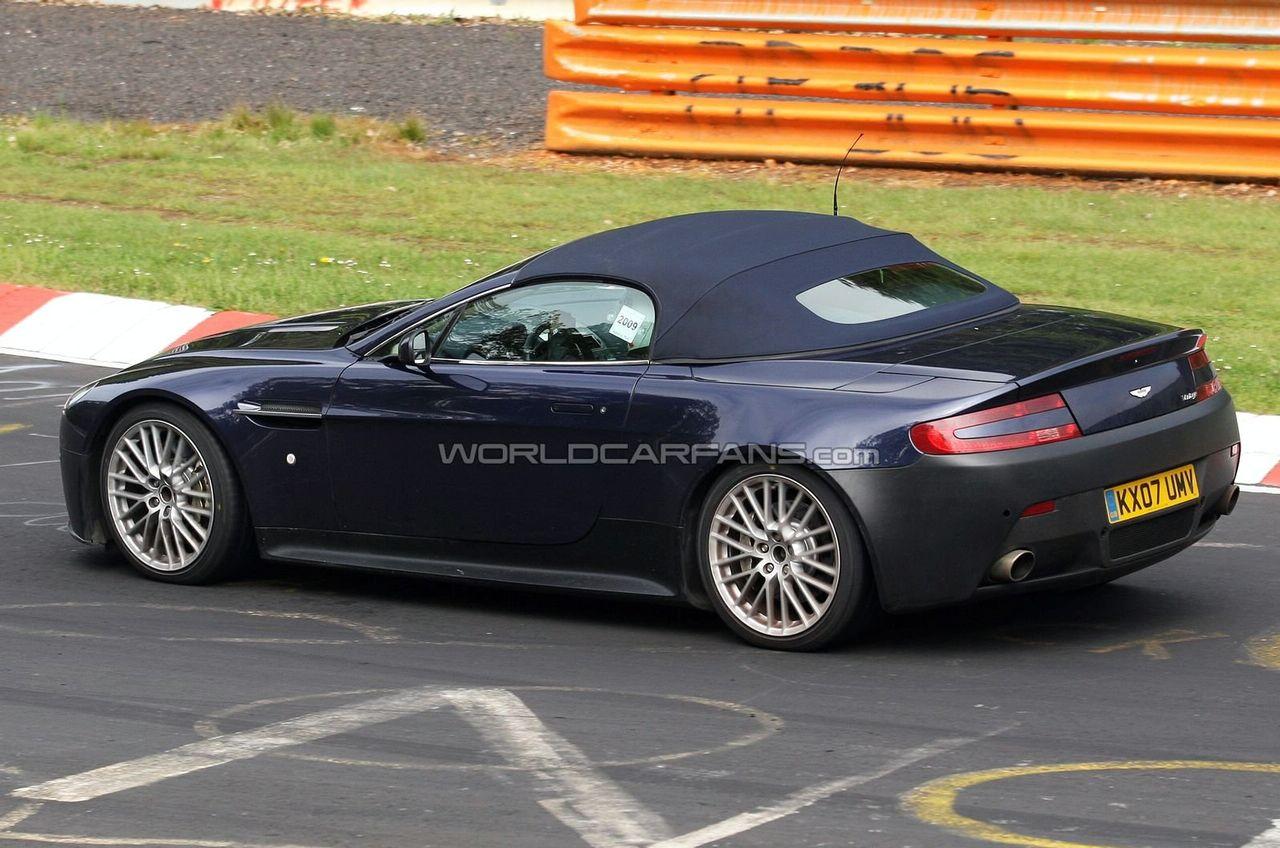 Aston Martin V12 Vantage Roadster Spy Photos
