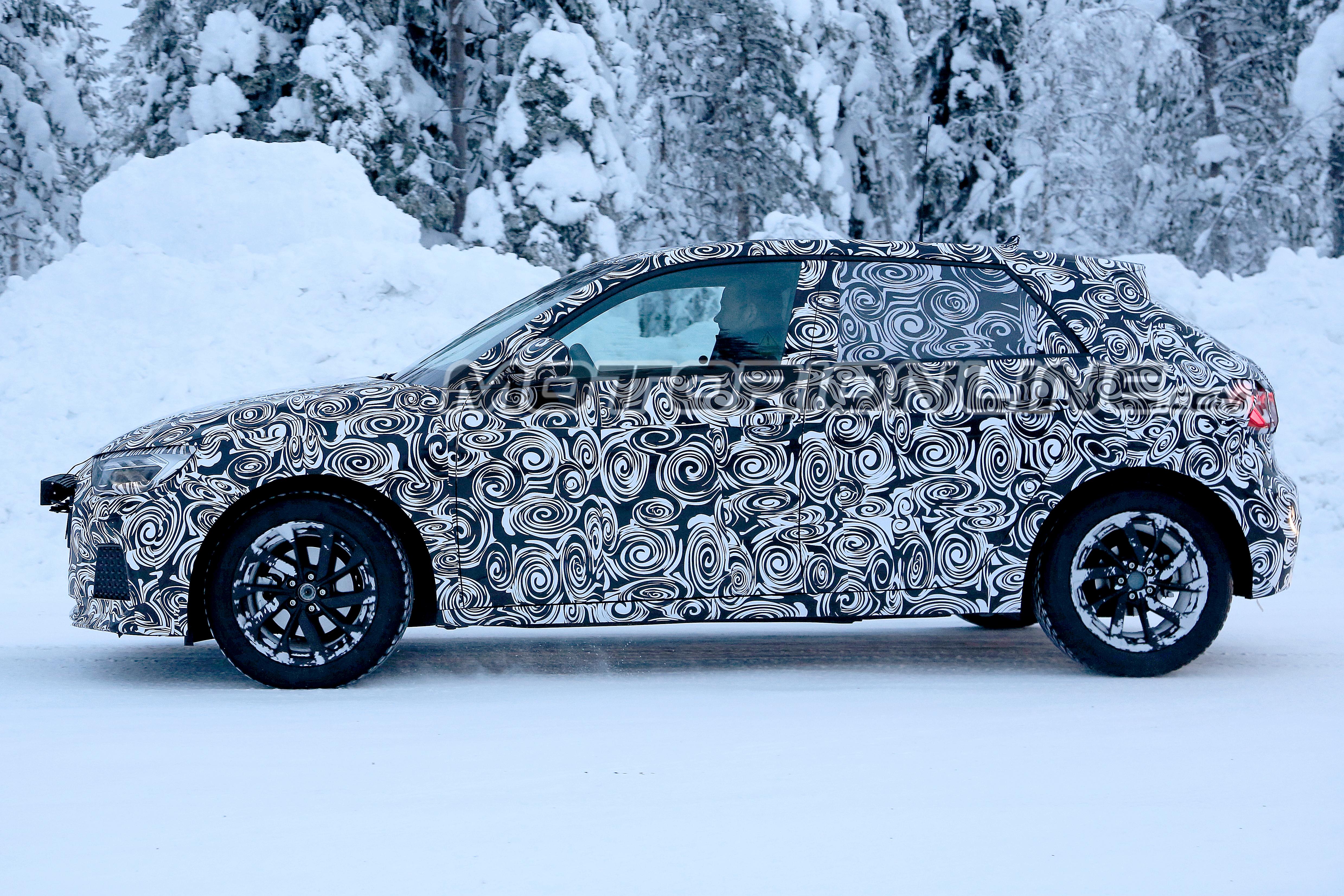 Audi A1 MY 2019 foto spia 12 gennaio 2018