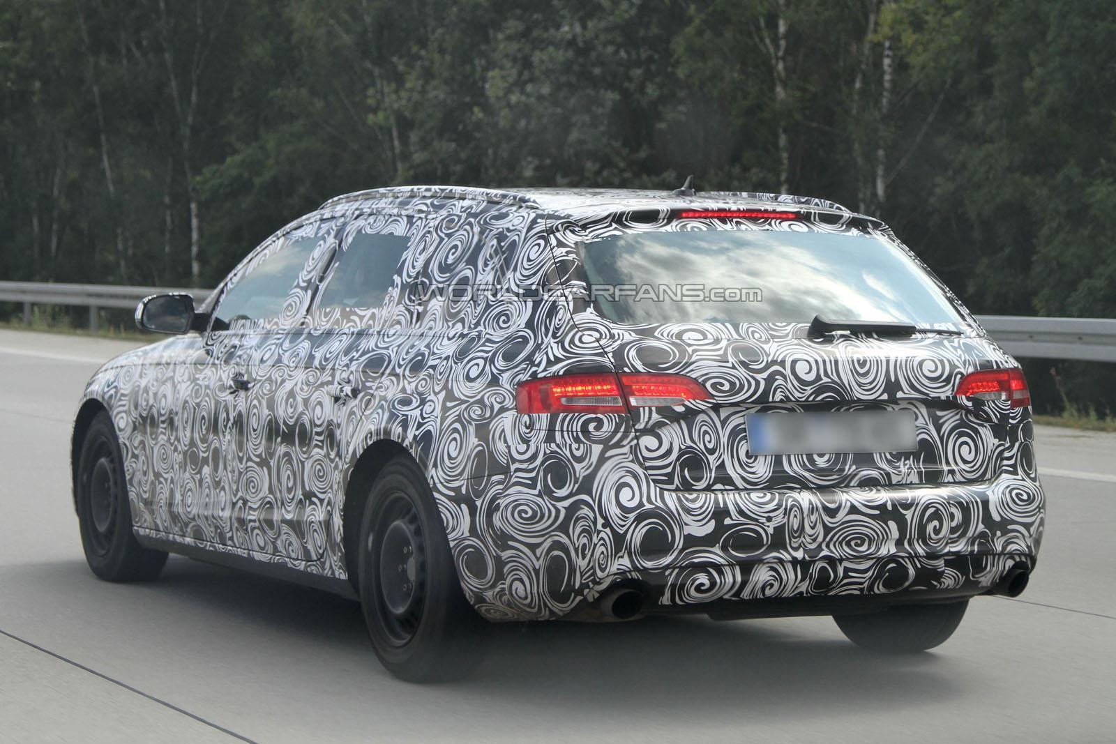 Audi A4 restyling foto spia agosto 2011