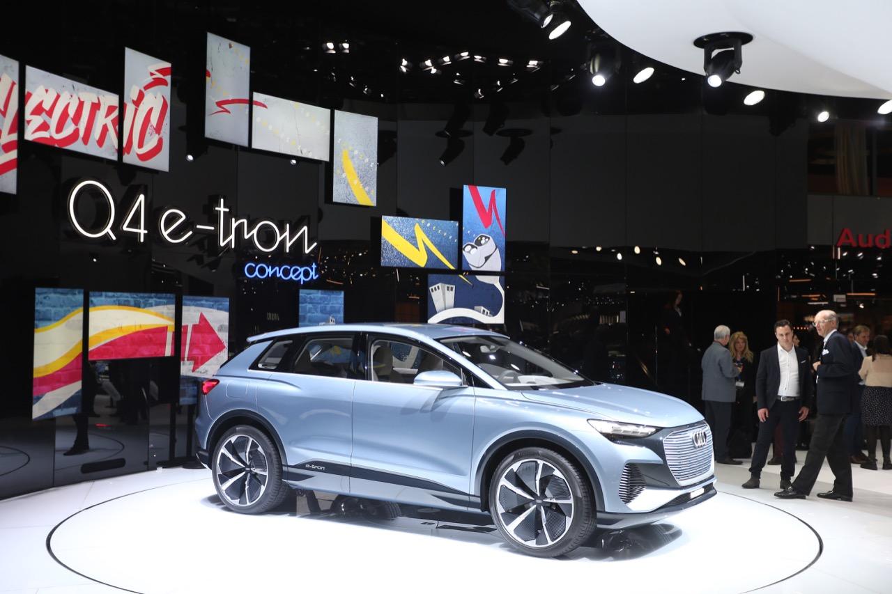 Audi Q4 e-tron concept - foto live Salone di Ginevra 2019