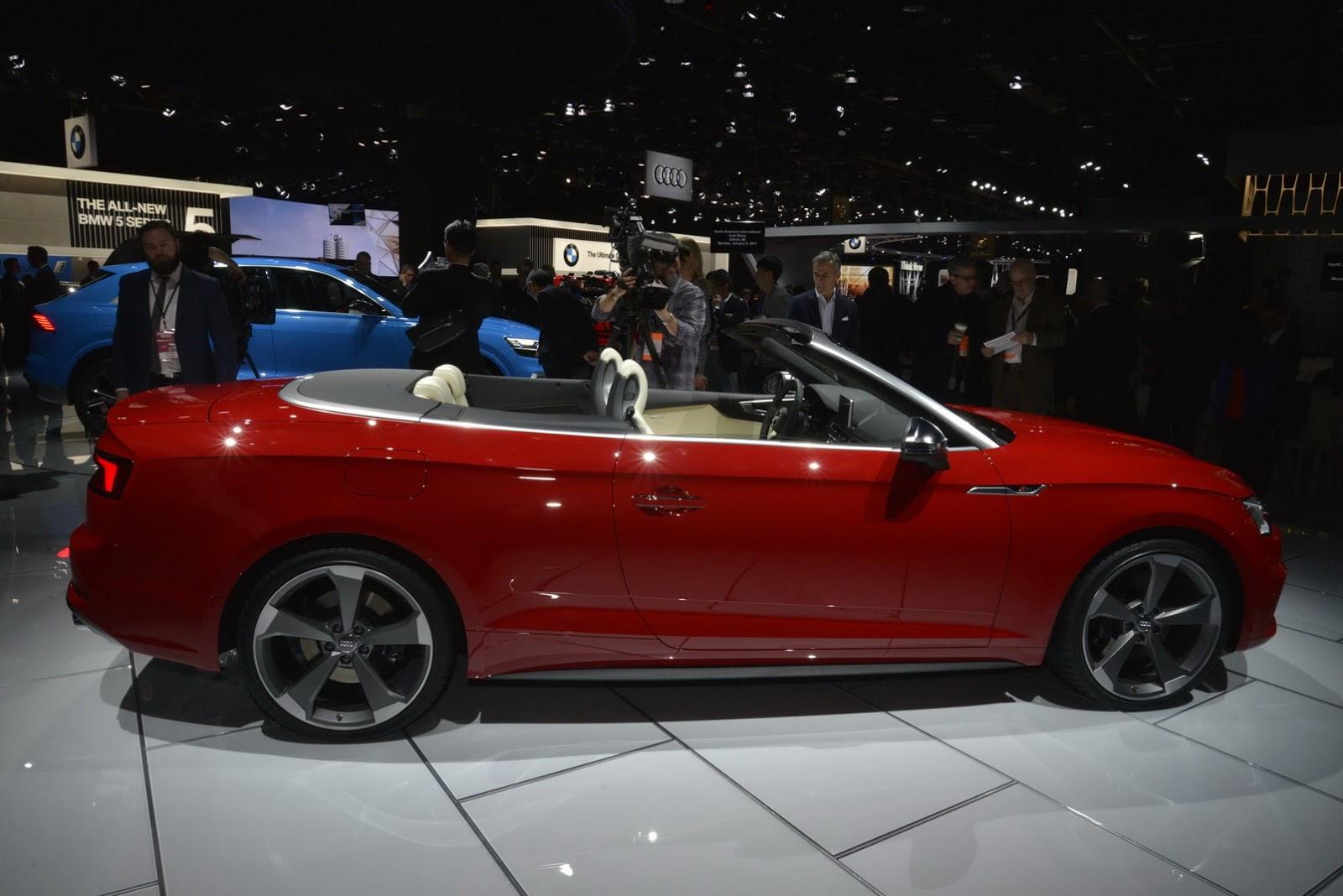 Audi S5 Cabriolet Salone di Detroit 2017