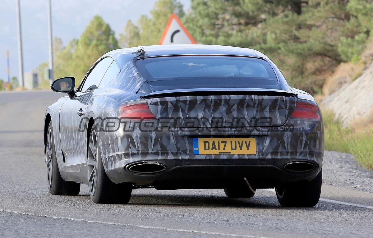 Bentley Continental GT MY 2018 - Foto spia 29-08-2017