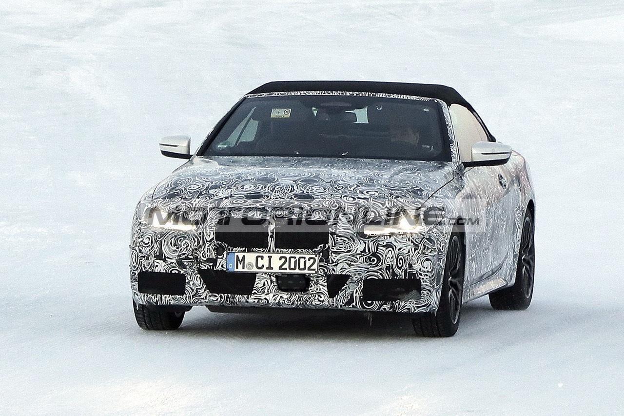 BMW Serie 4 Cabrio - Foto spia 25-2-2020