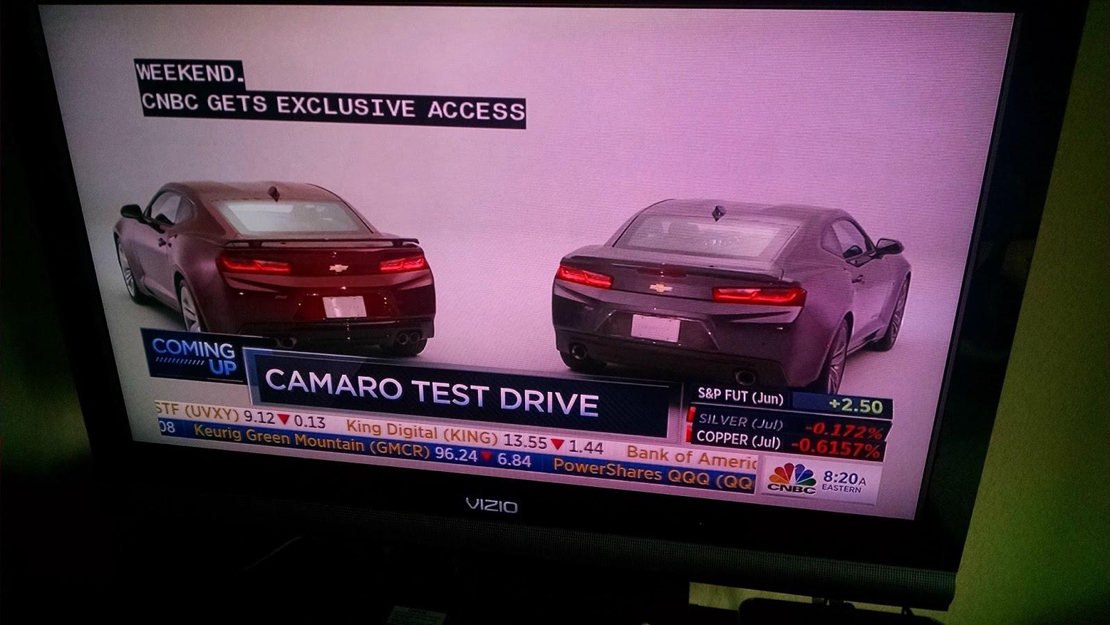 Chevrolet Camaro MY 2016