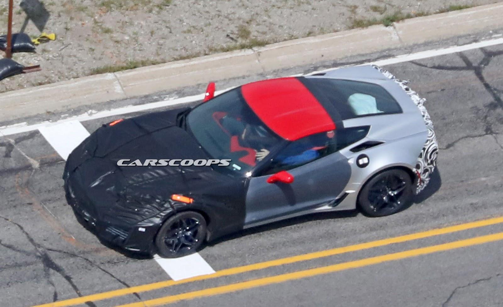 Corvette ZR1 foto spia 3 agosto 2016