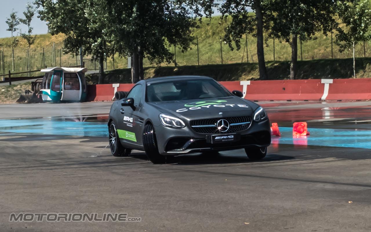Coyote e Mercedes AMG sul Circuito Tazio Nuvolari