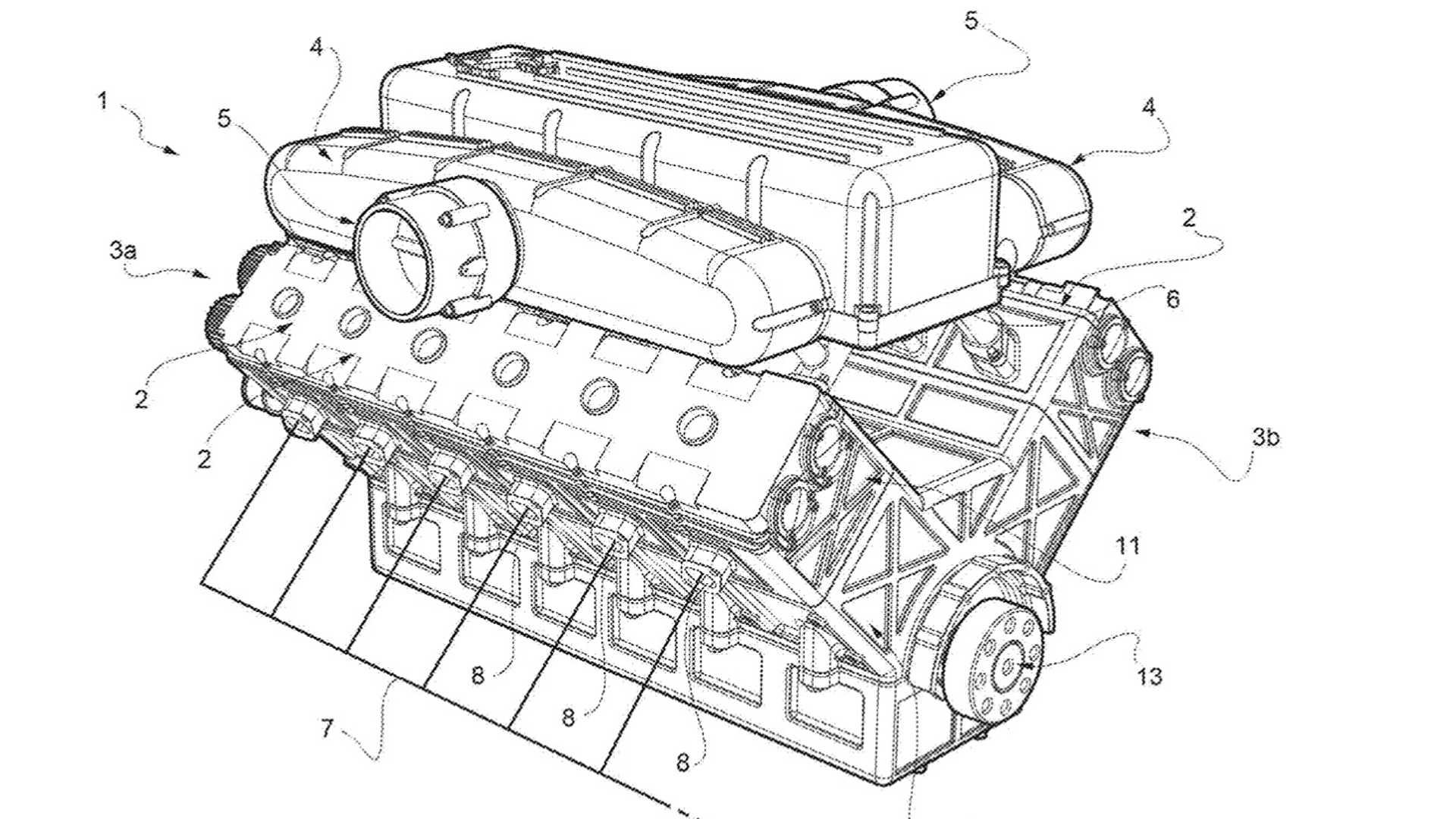 Ferrari - Brevetto nuovo motore V12