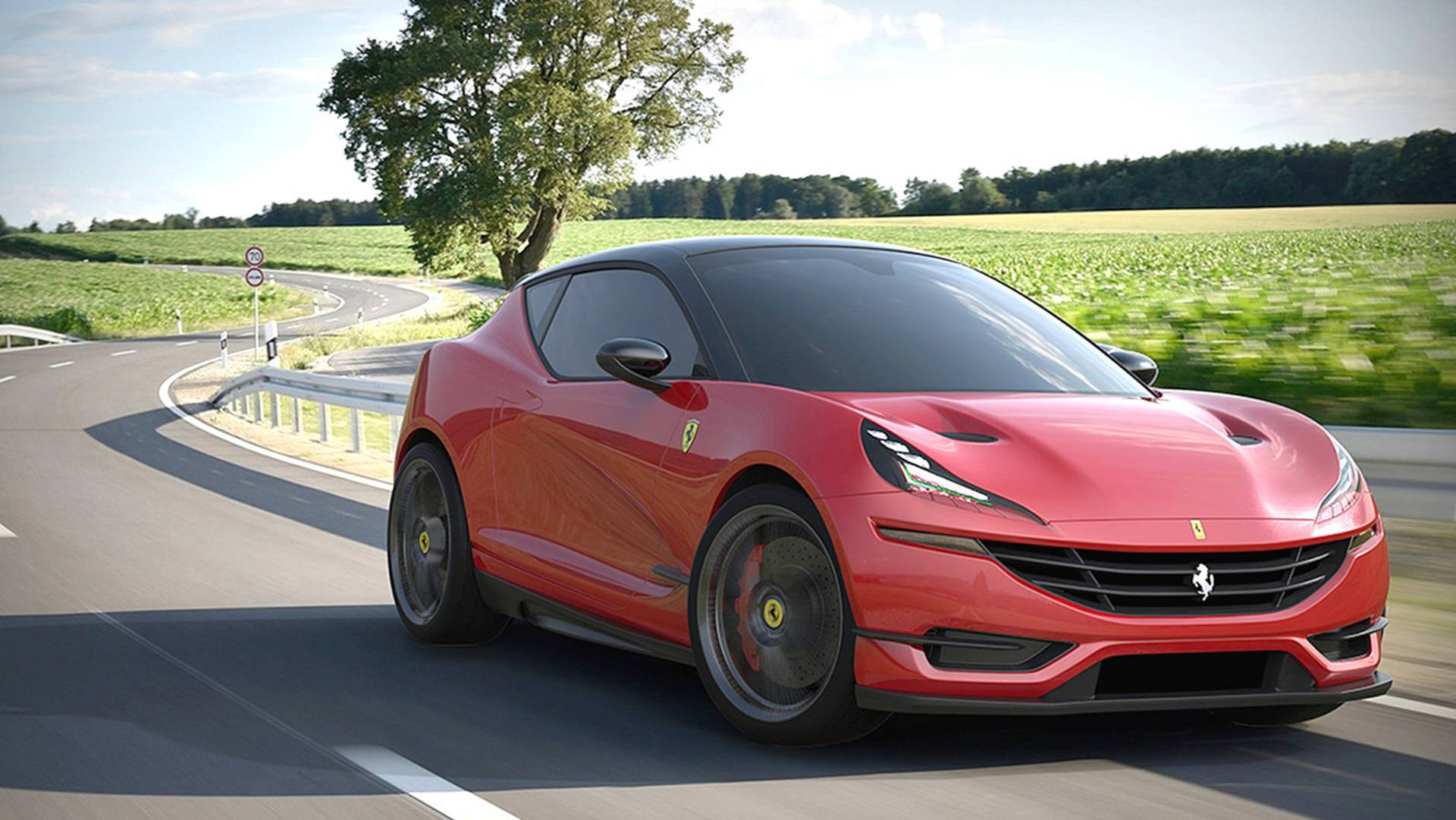 Ferrari hatchback - Rendering by Taekang Lee