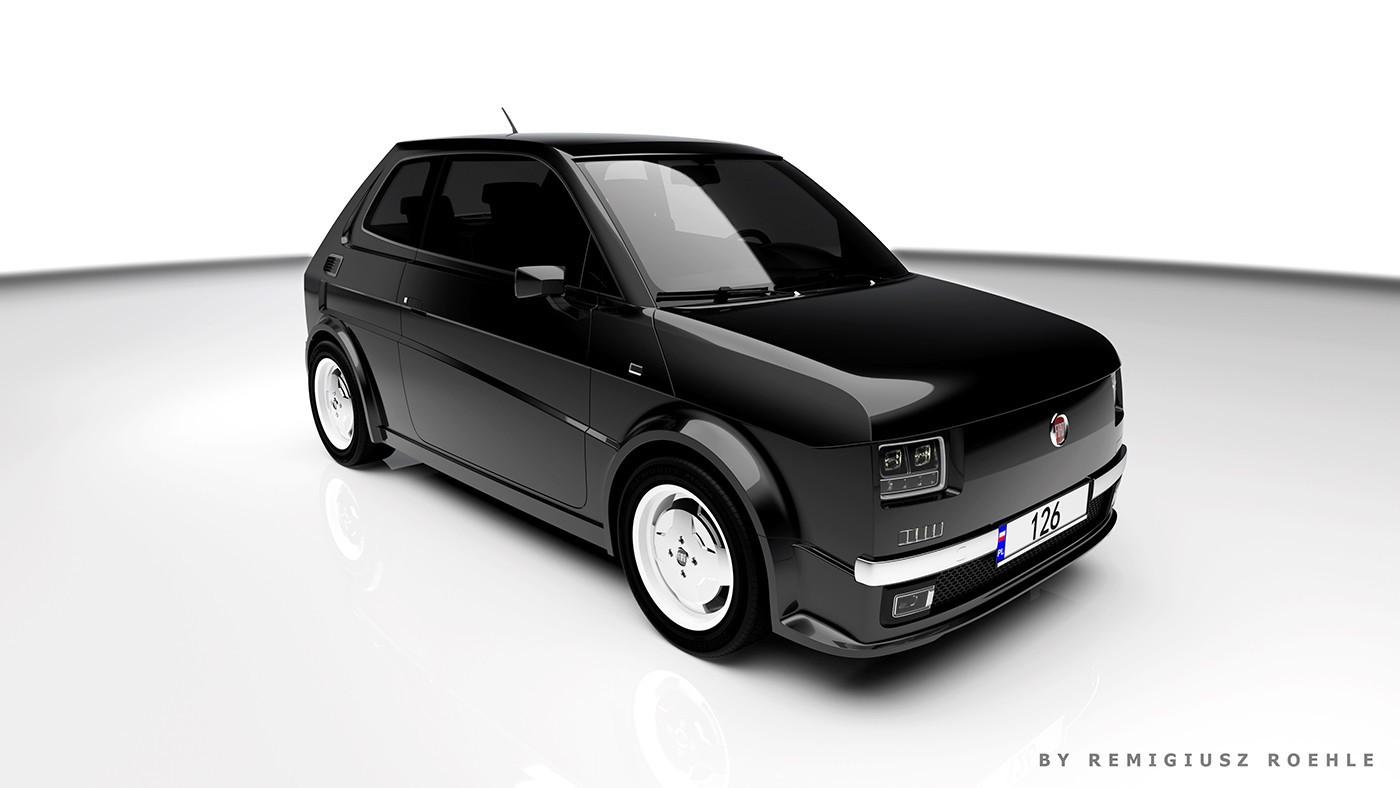 Fiat 126 2020 - Render