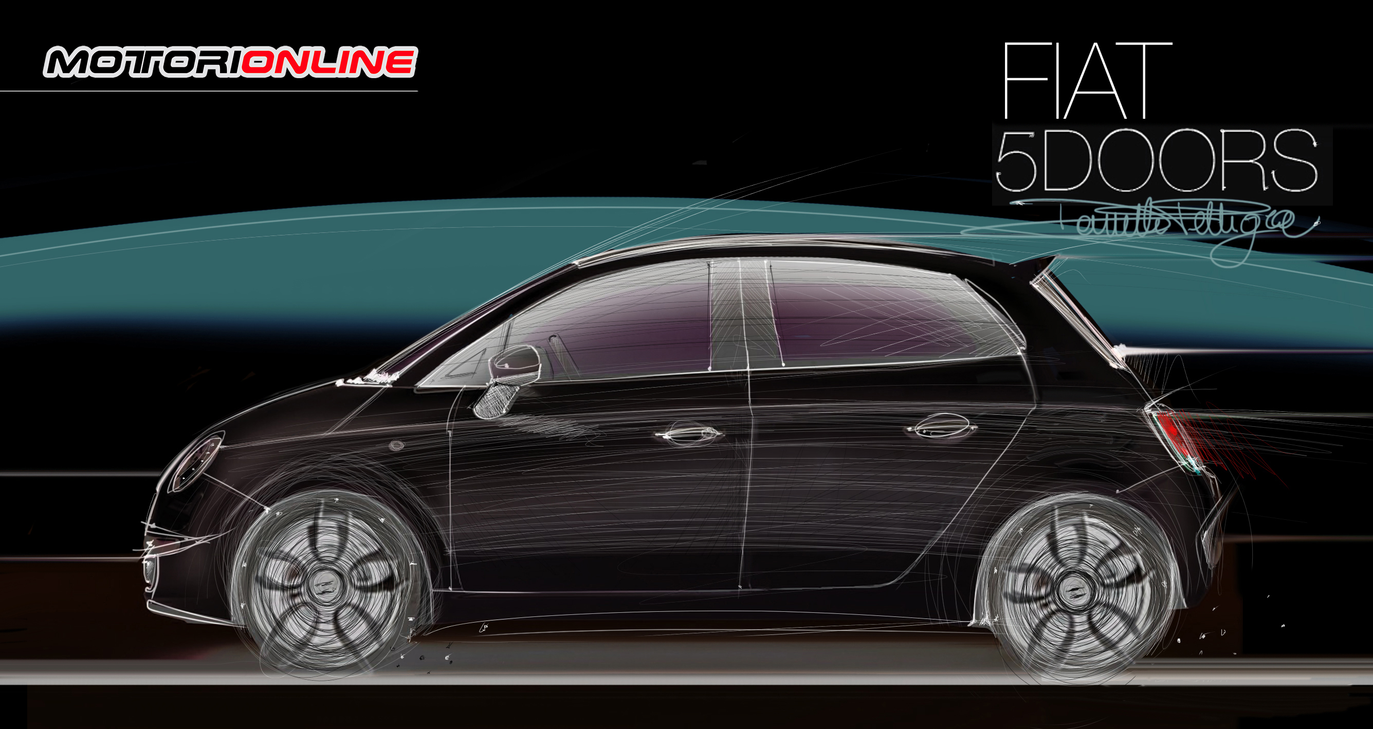 fiat 500 5 porte rendering by daniele pelligra 5 5. Black Bedroom Furniture Sets. Home Design Ideas