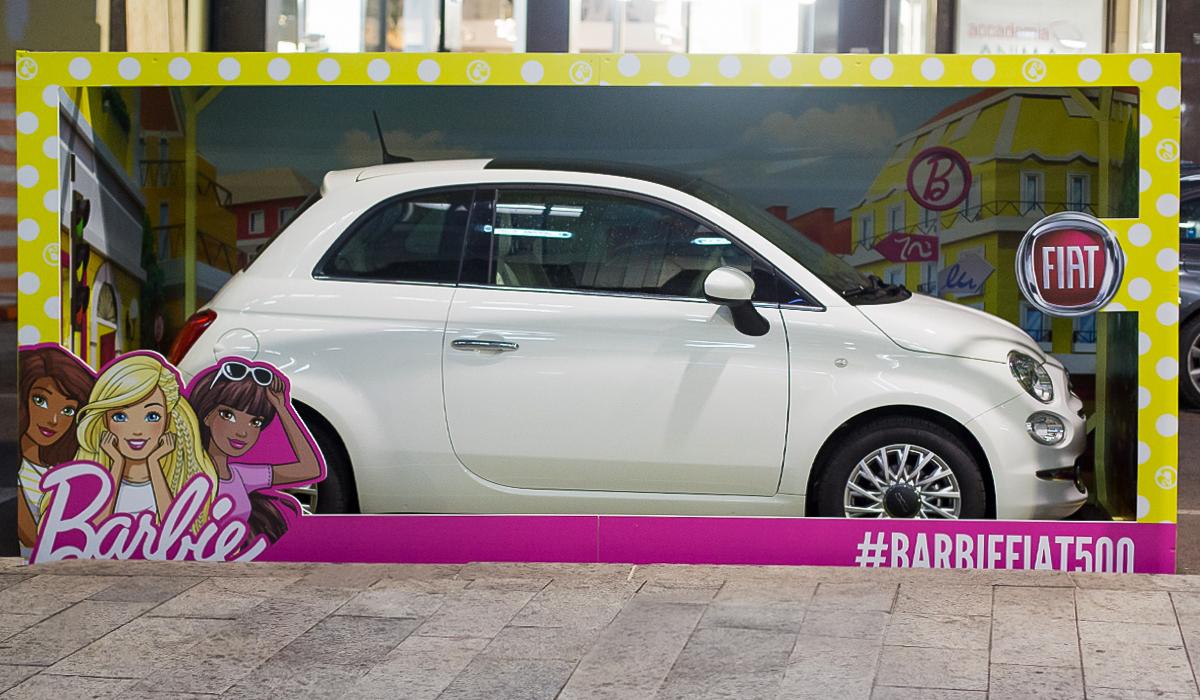 Fiat 500 e Barbie