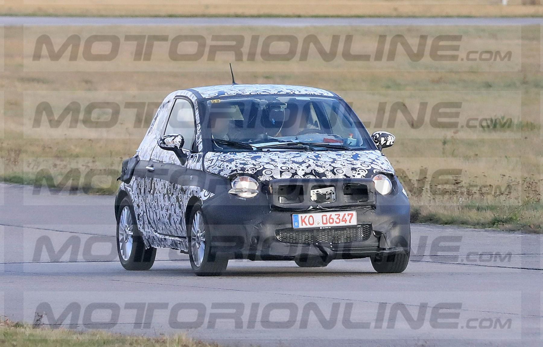 Fiat 500 elettrica - le foto spia ufficiali