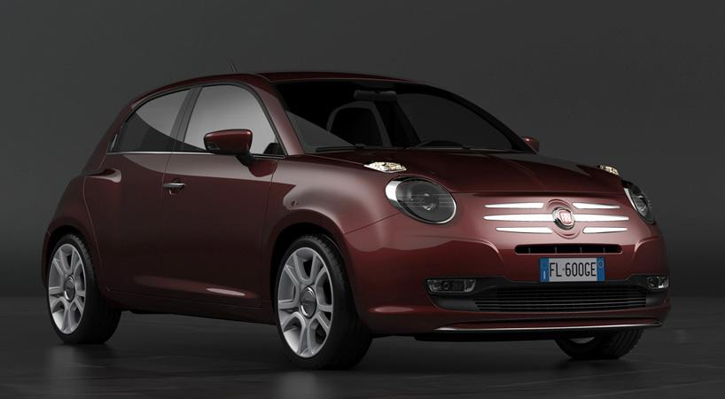 Fiat 600 - Rendering by David Obendorfer