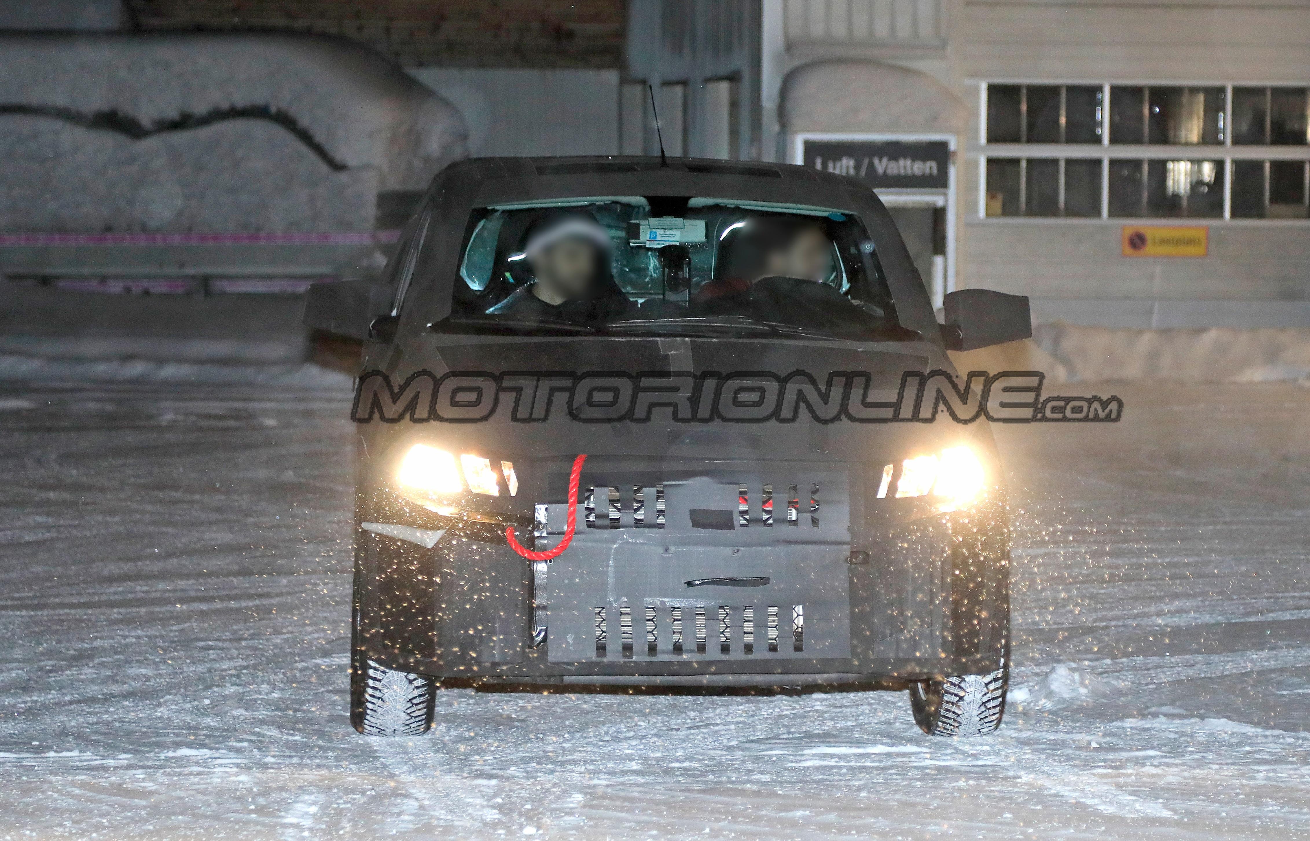 Fiat Mobi pick-up - Foto spia 30-01-2019