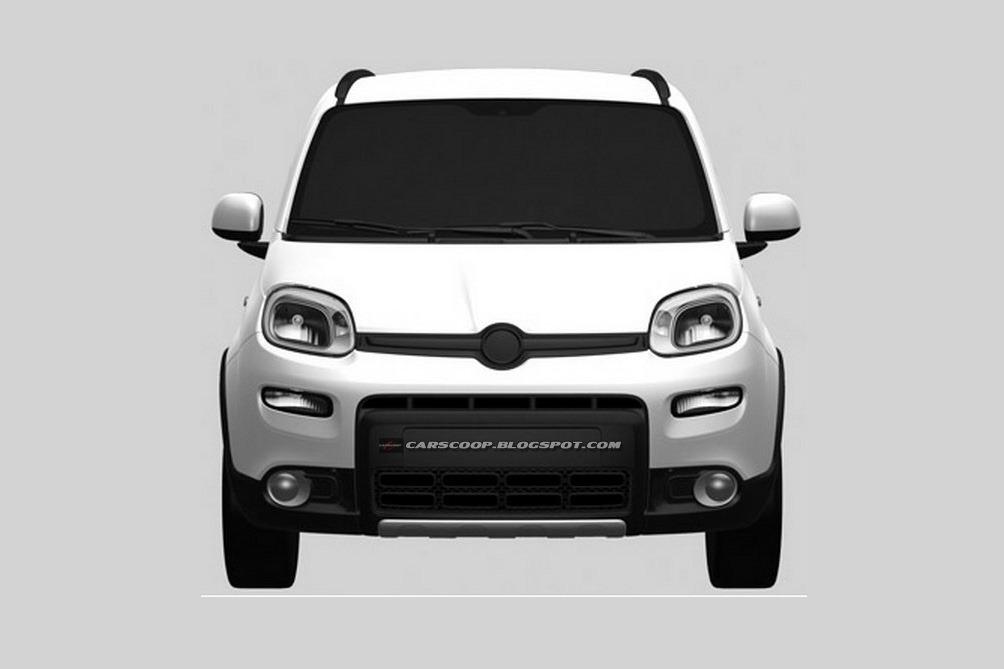 Fiat Panda 4x4 bozzetti ufficiali