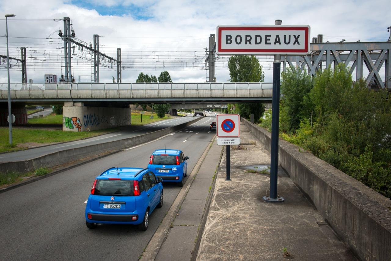Fiat Pandazzurri a Bordeaux per la partita degli Europei 2016 Germania-Italia