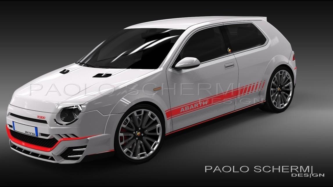 Fiat Ritmo Abarth - Rendering