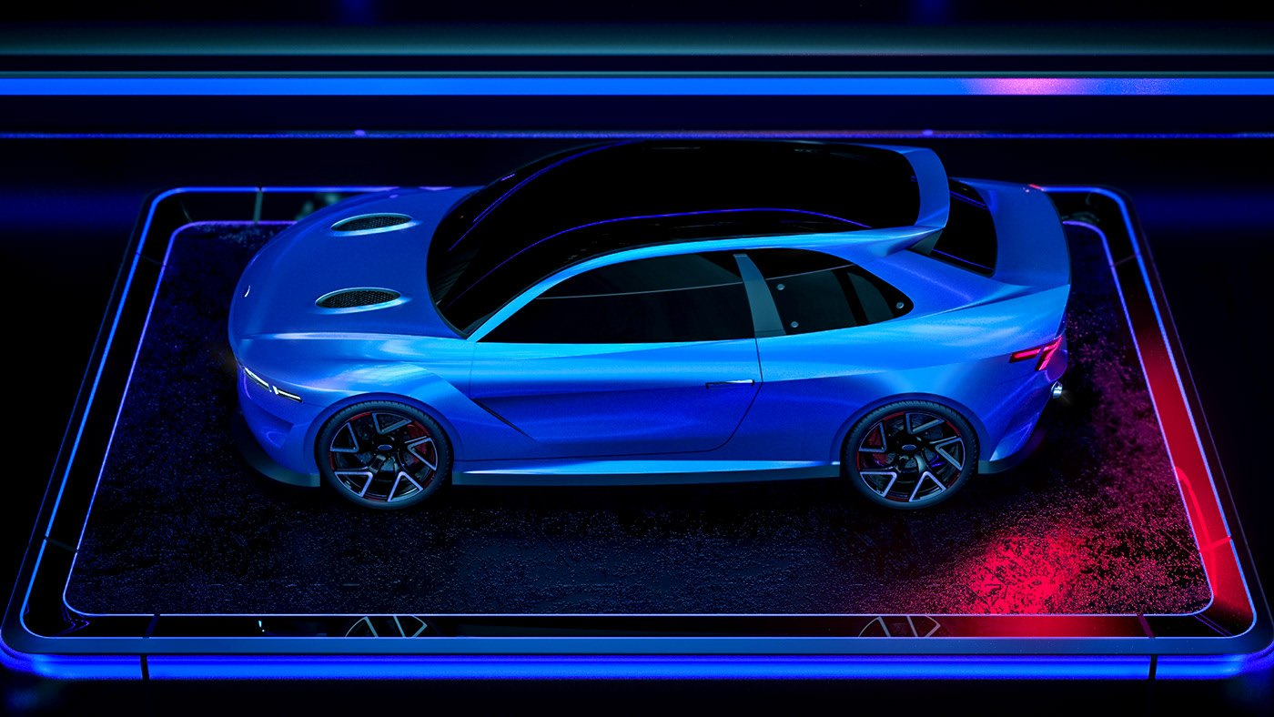Ford Escort RS Cosworth 2020 - Rendering